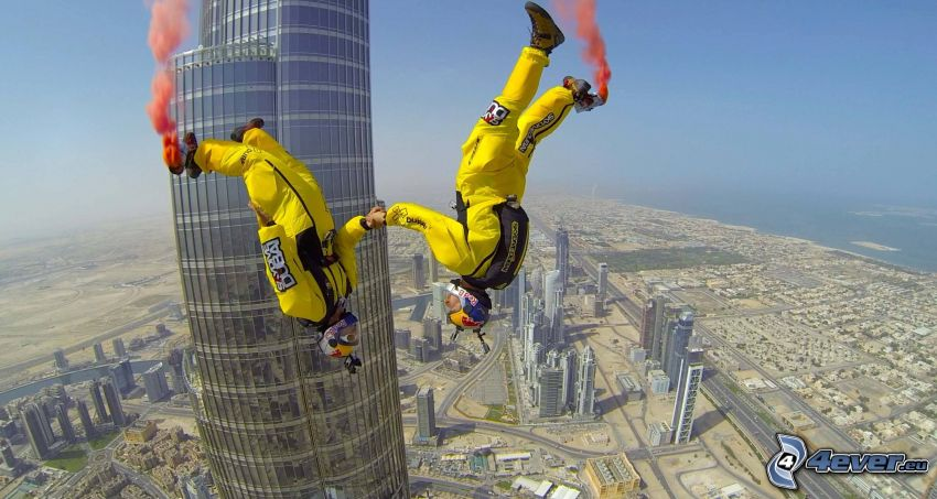 BASE Jump, grattacielo, Dubai