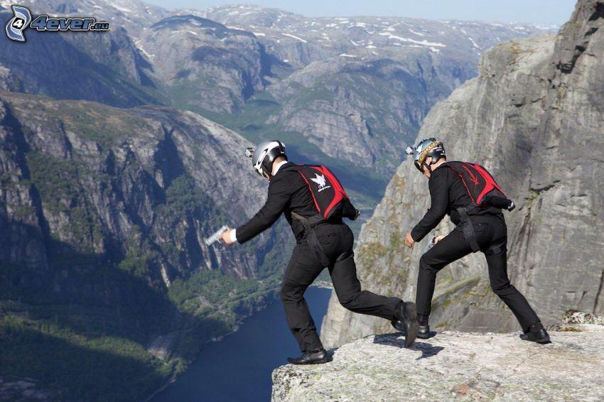 BASE Jump, rocce, scogliera
