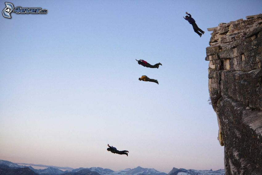 BASE Jump, salto, scogliera