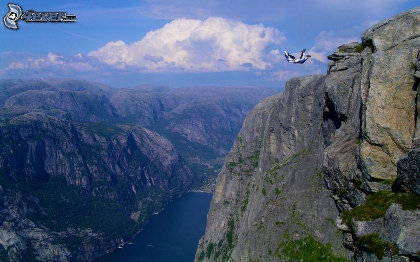 BASE Jump, scogliera, rocce