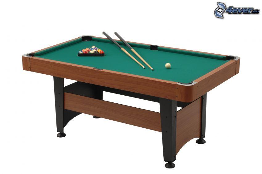 biliardo, tavolo da biliardo
