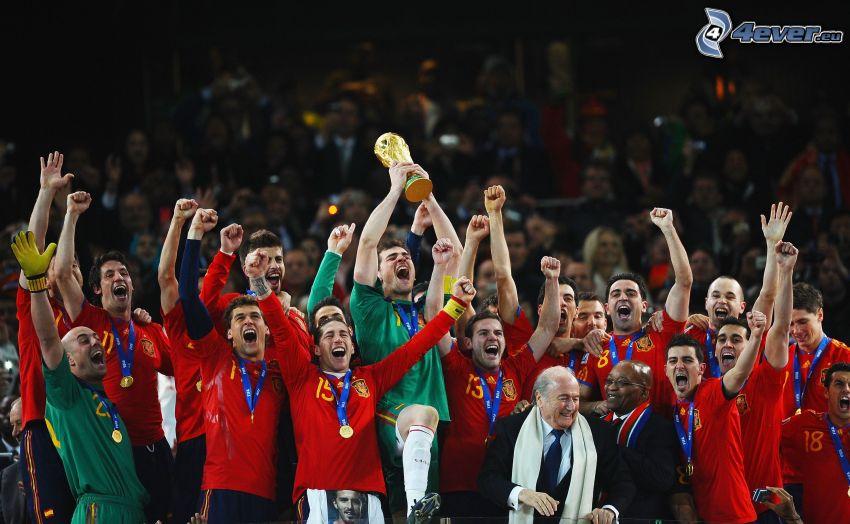 squadra di calcio, vittoria