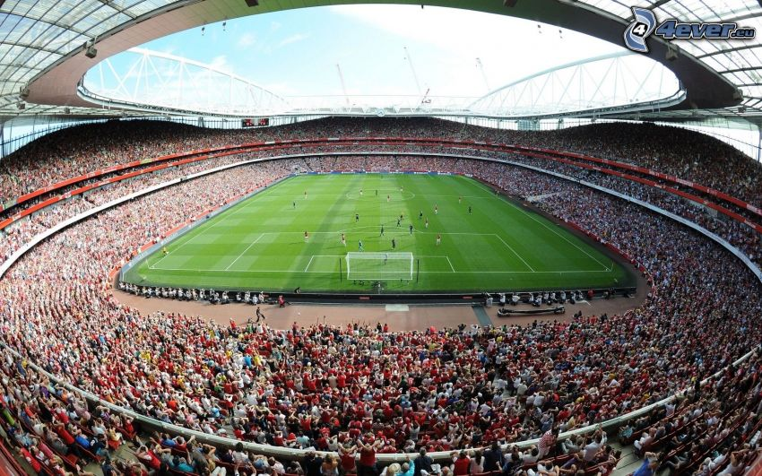 stadio di calcio, spettatori, partita
