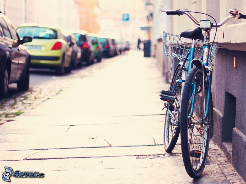 bicicletta, marciapiede