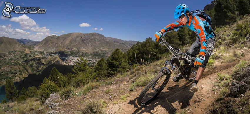 mountainbiking, montagna
