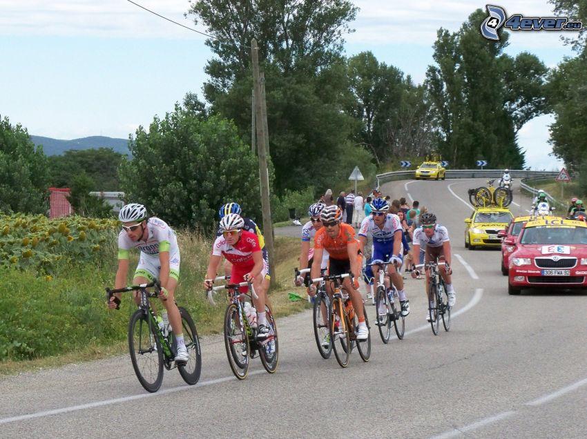 Tour De France, ciclisti, strada