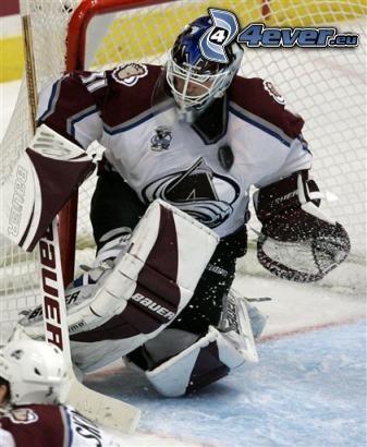 giocatore di hockey, portiere