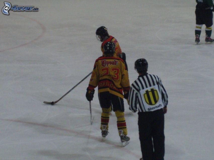 hockey, ghiaccio, arbitro
