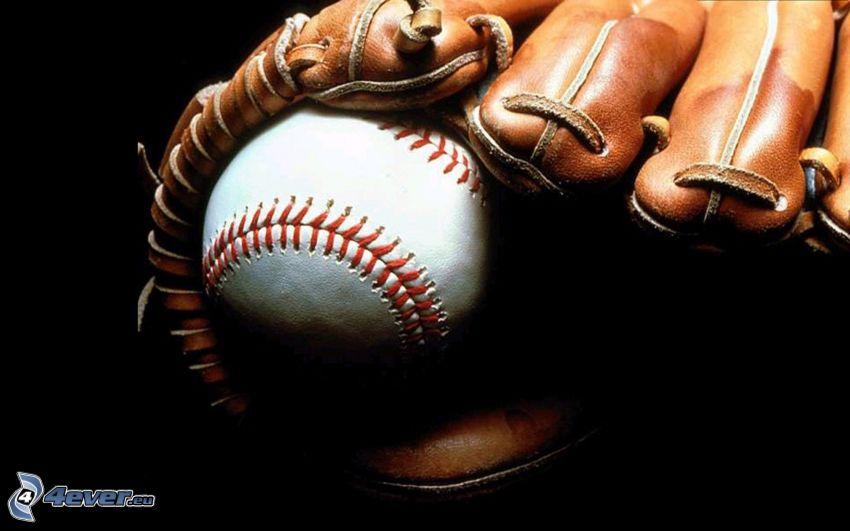 palla da baseball, guanti