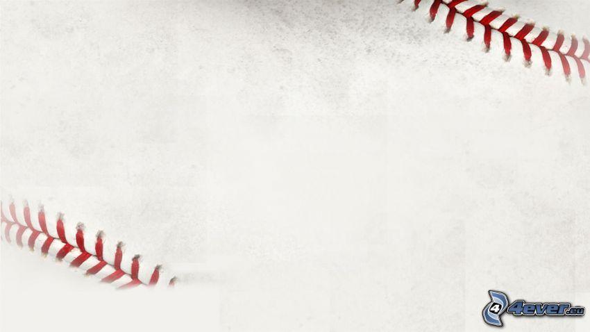 palla da baseball, sfondo bianco