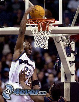 Michael Jordan, basket, cesto