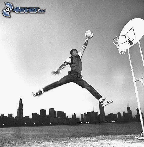 Michael Jordan, basket, salto