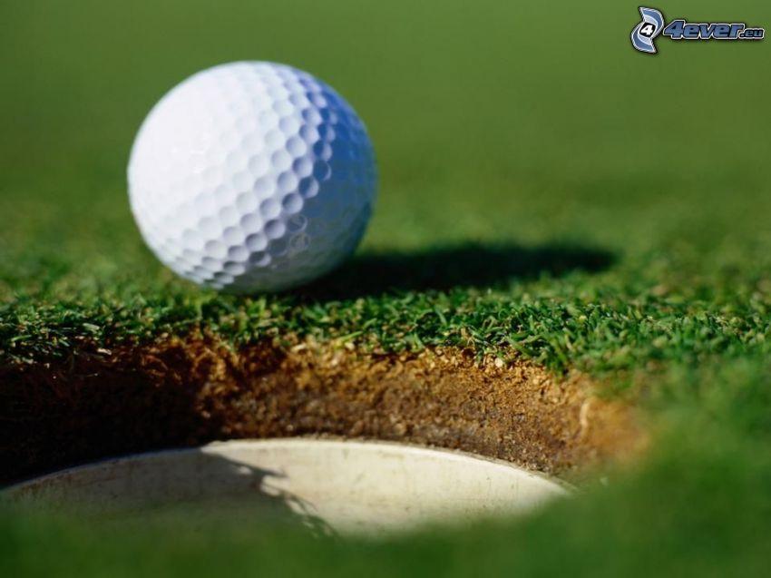 pallina da golf, buco