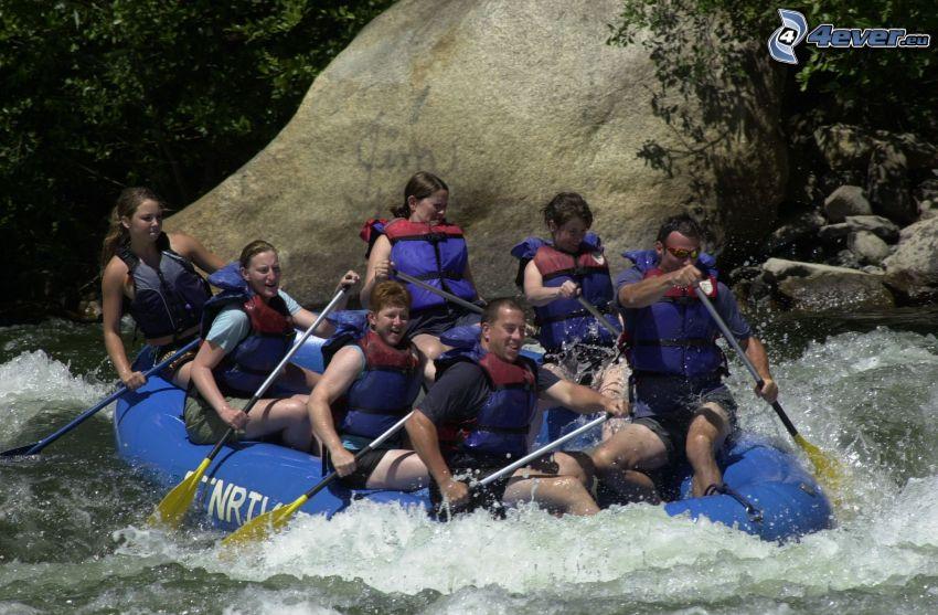 rafting, acqua selvaggia, canottaggio, imbarcazione