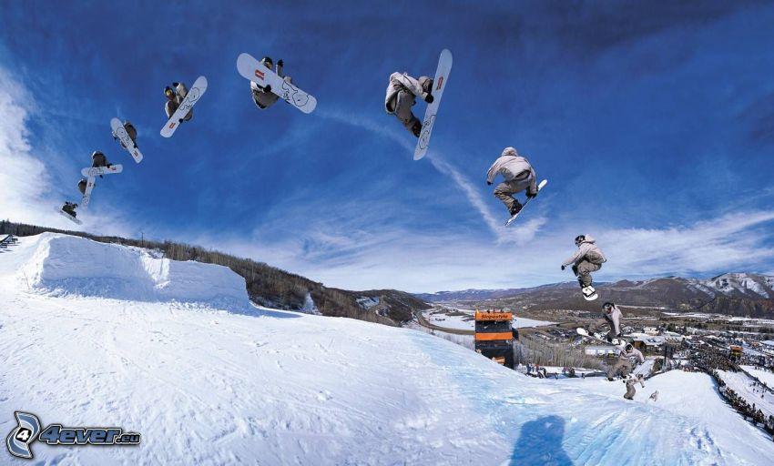 salto snowboard