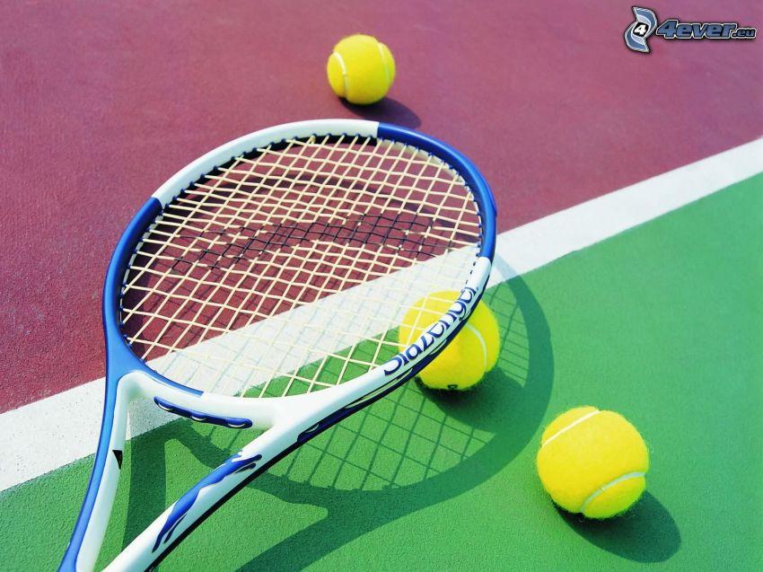 tennis, racchetta da tennis, palline da tennis