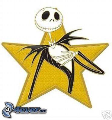 Jack Skellington, scheletro, stella