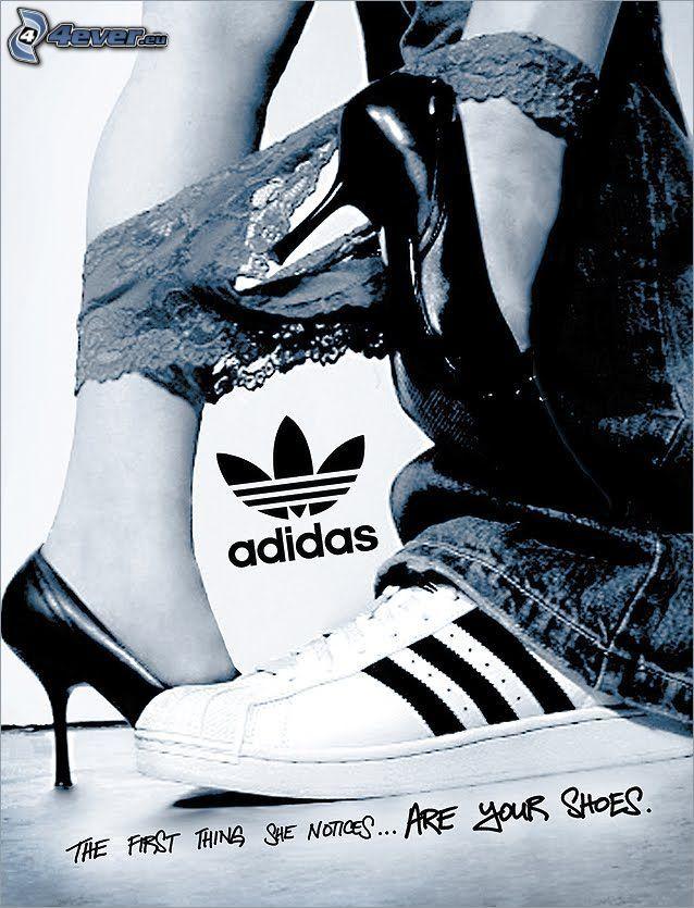 Adidas, scarpe, mutandine, tacchi