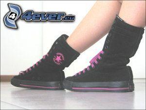 gambe, scarpe da ginnastica, Converse All Star