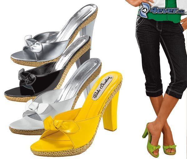 scarpa, pantaloni, vestiti, tacco