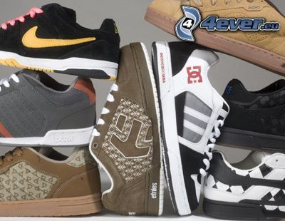 scarpe, sneakers colorate, Nike, DC Shoes