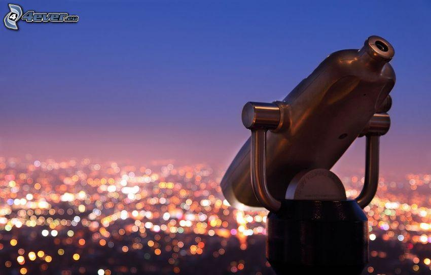 binocolo, vista della città, Los Angeles