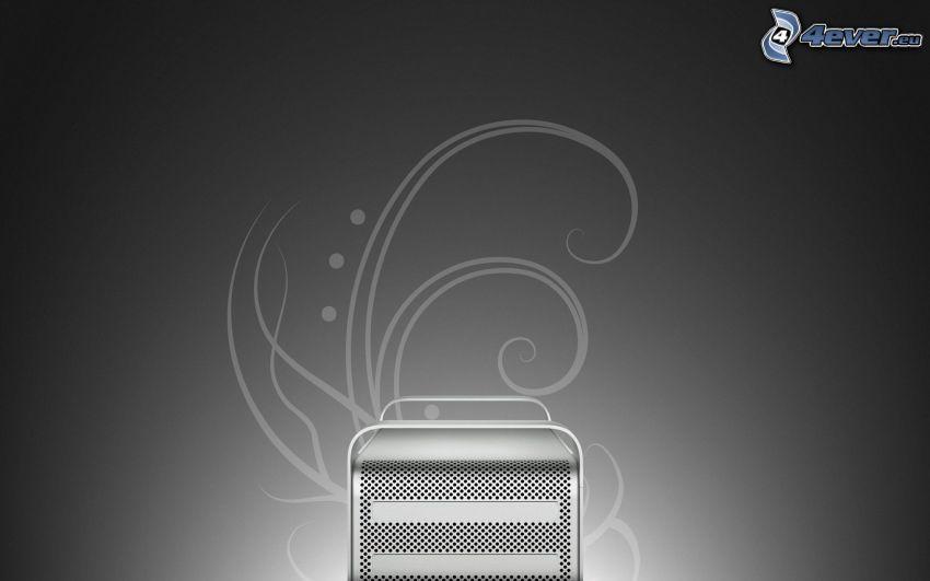 computer, Apple, sfondo grigio