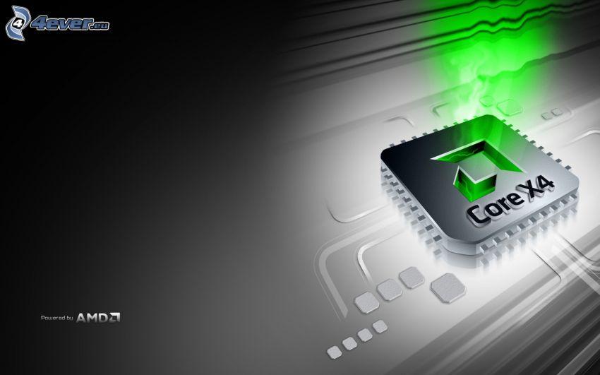 Core X4, AMD, processore