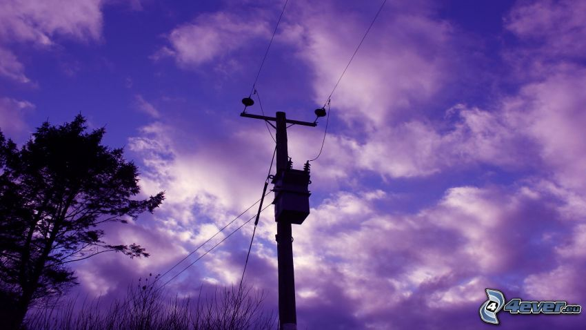 elettrodotto, nuvole