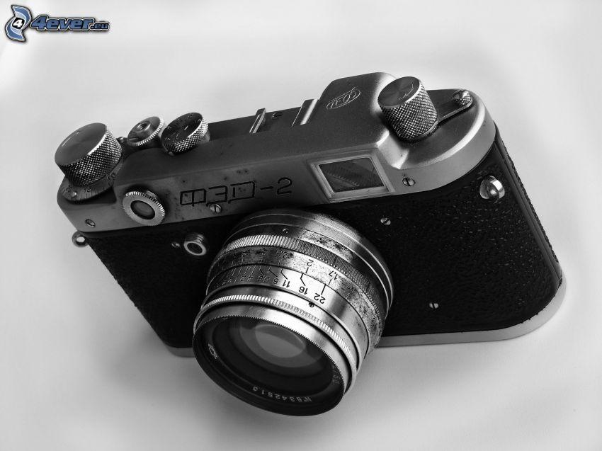 fotocamera, foto in bianco e nero