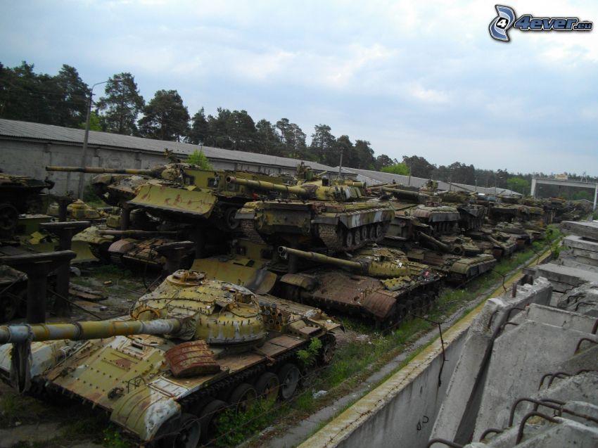 carri armati, relitto