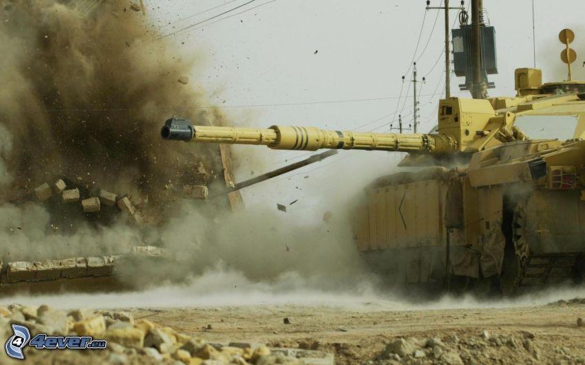 carro armato, esplosione