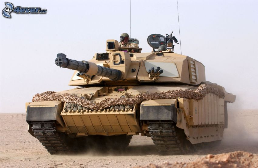 M1 Abrams, carro armato, polvere