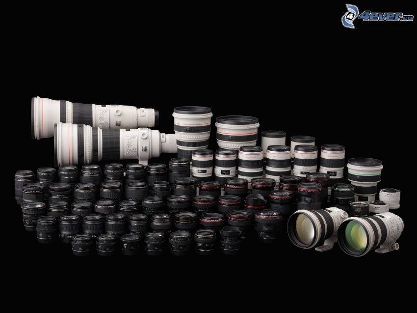 obiettivi, apparati fotografici