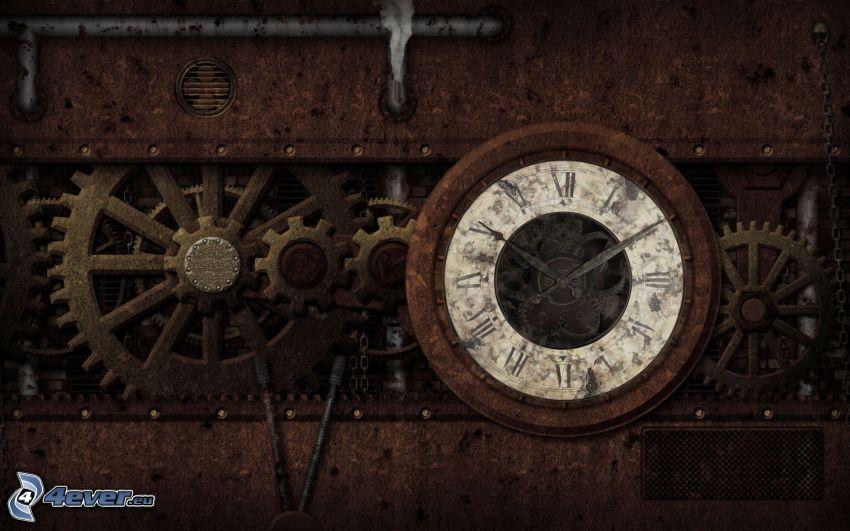 orologio, ingranaggi