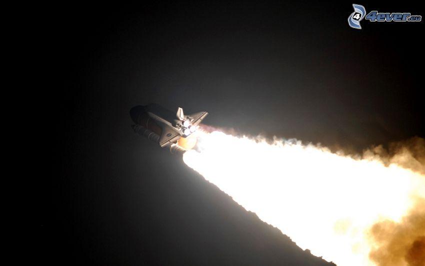 partenza di una navicella spaziale