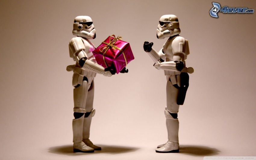 Stormtrooper, robot, regalo