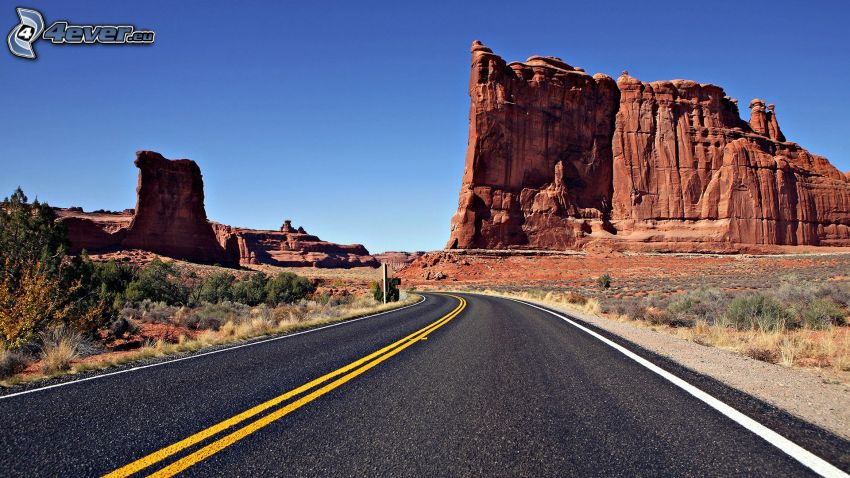 Monument Valley, strada, USA