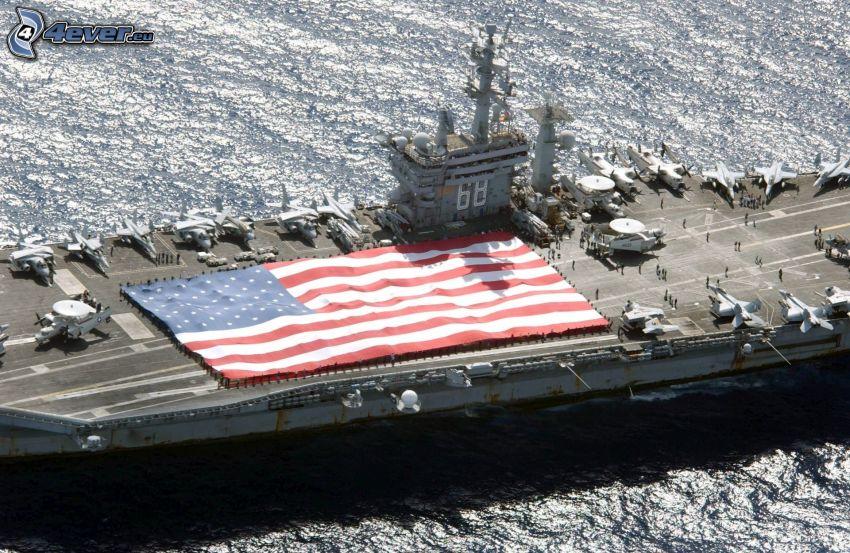 portaerei, Bandiera degli Stati Uniti