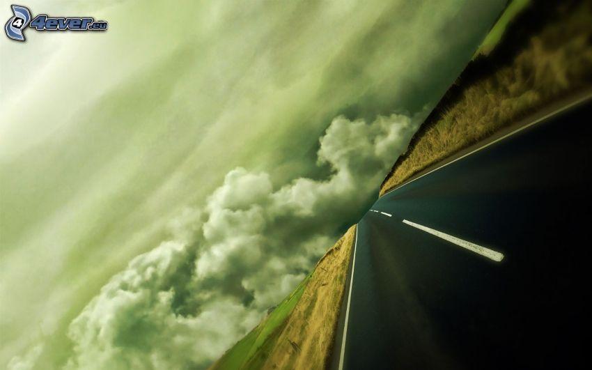 strada, cielo