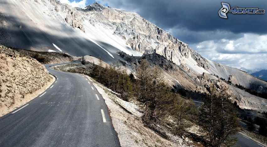 strada, montagne
