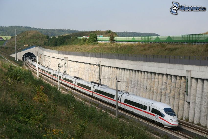 ICE 3, pendolino, galleria ferroviaria