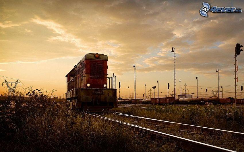locomotiva, ferrovia