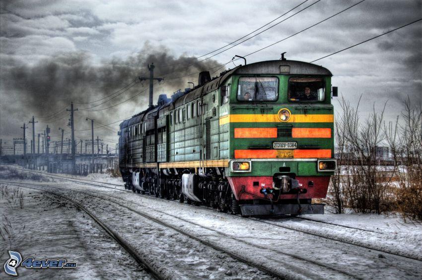 locomotiva, HDR