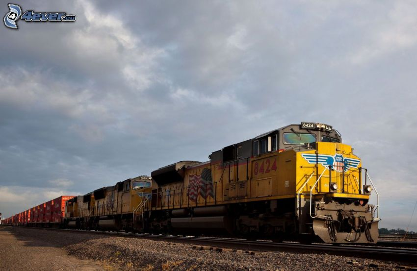 locomotiva, Union Pacific, treno merci