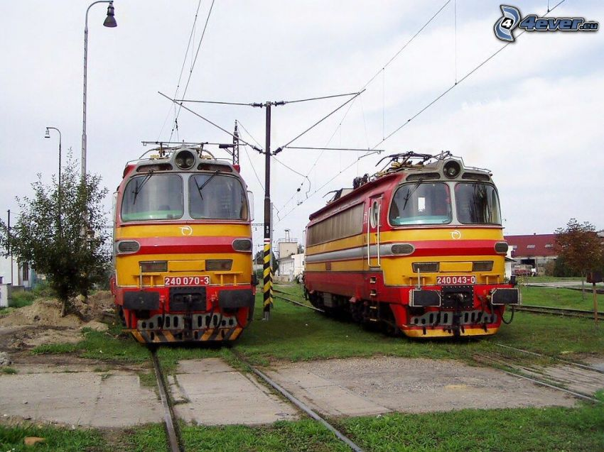 locomotive, rotaia vignoles, ZSSK