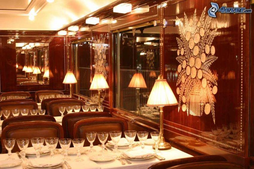 Orient Express, carrozza ristorante, lusso