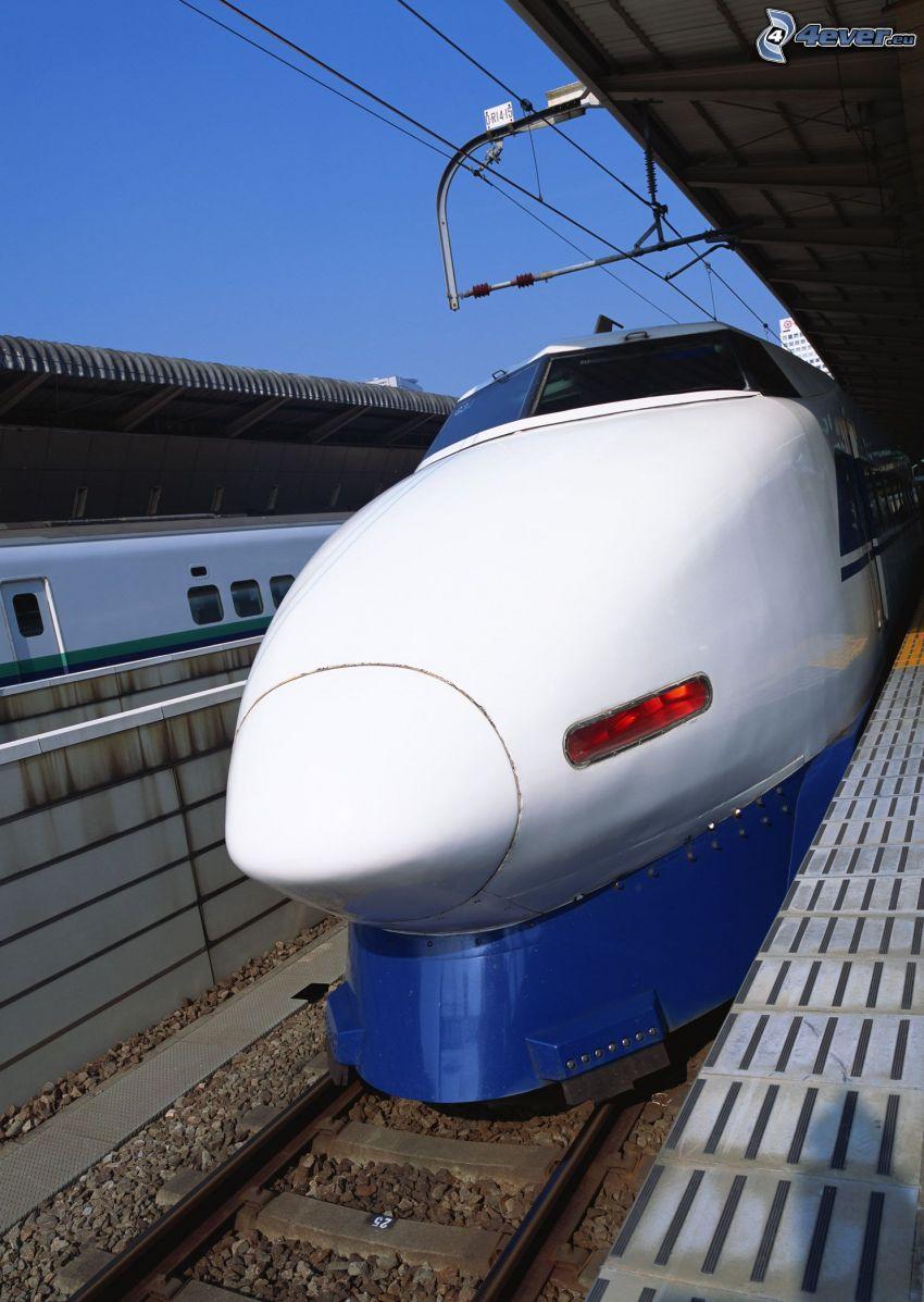 Shinkansen, pendolino, stazione ferroviaria, Giappone