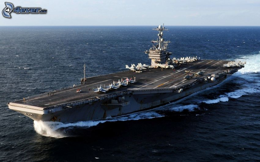 USS George Washington, portaerei, alto mare