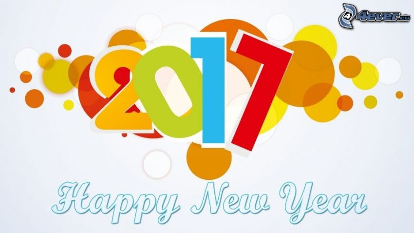 2017, Felice anno nuovo, happy new year, cerchi colorati